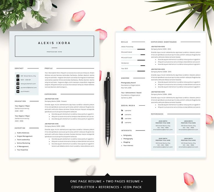 36 best ♡ For my career ♡ images on Pinterest Interview - one page resume samples