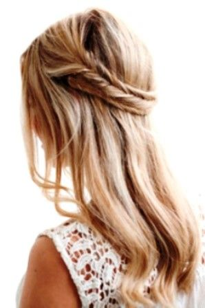 Boho bride's double braid wedding hairstyle
