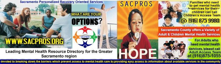 Sacpros.org is a leading mental health website for the Greater  Sacramento region. Our website is a one-stop-shop that connects individuals and families to available programs and services in the community. We also publish four times a year in print and on the web, the Empowerment which is a mental health magazine dedicated to promoting overall wellness and Resiliency.