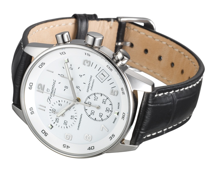 Johannes white, leather strap