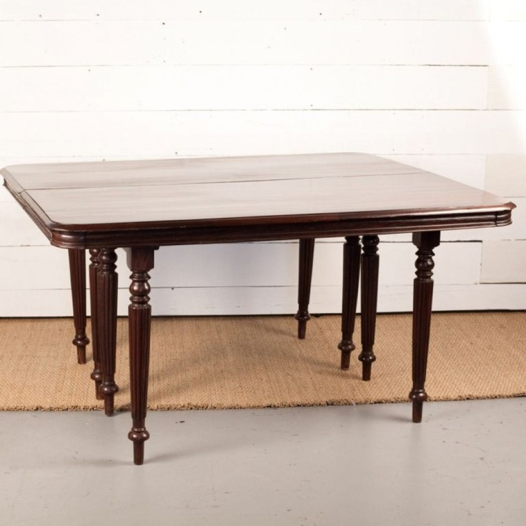 Anglo Indian Campaign Style Solid Rosewood Table In Two Halves. Tables Join  Together To
