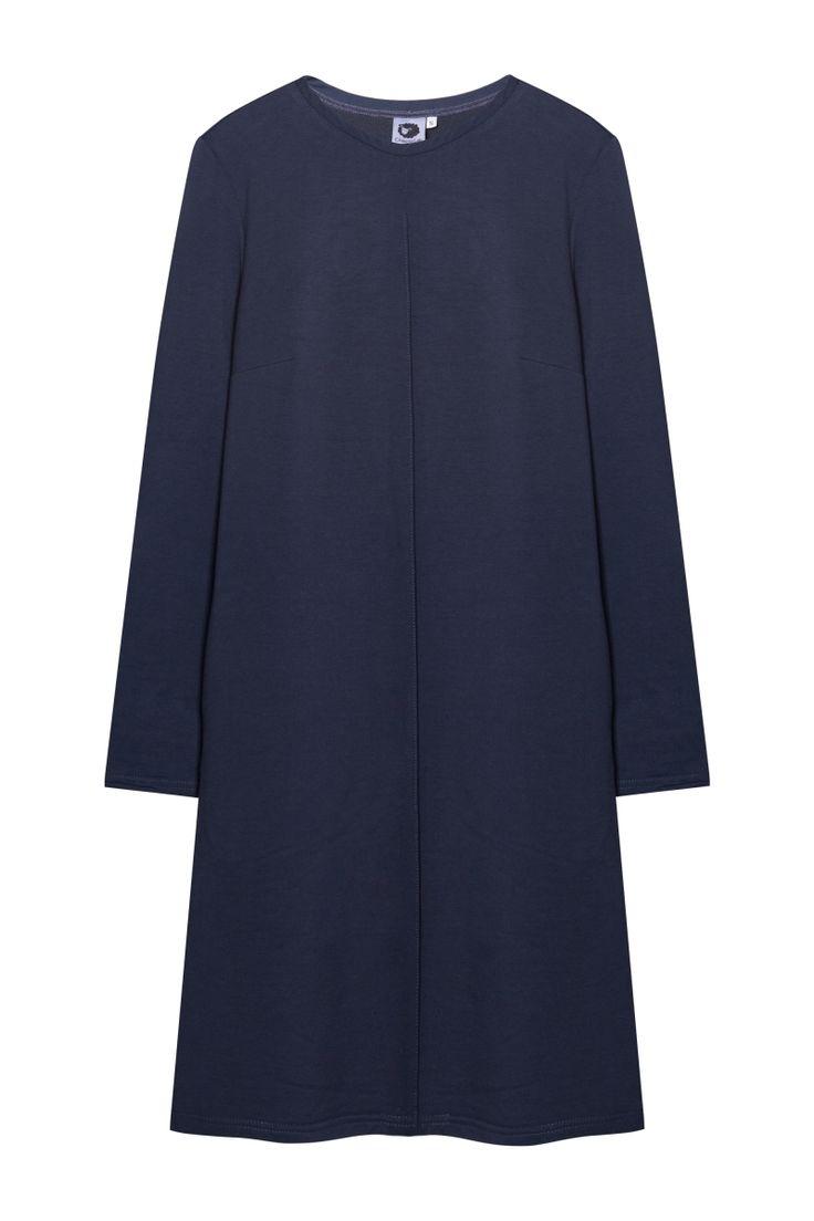 Базовое платье А-силуэта серое - HHLVK Concept store