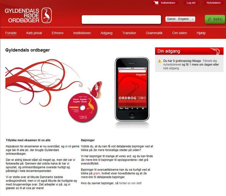 Brug de røde ordbøger online