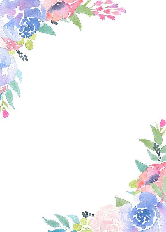 Floral Frame Clipart Flower Arrangement Pre Made