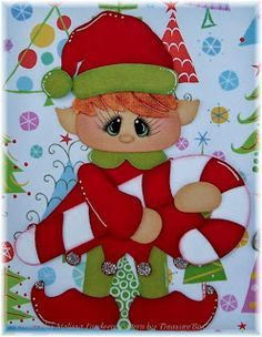Craftecafe Mindy Christmas Girl premade paper piecing for scrapbook page album - Buscar con Google