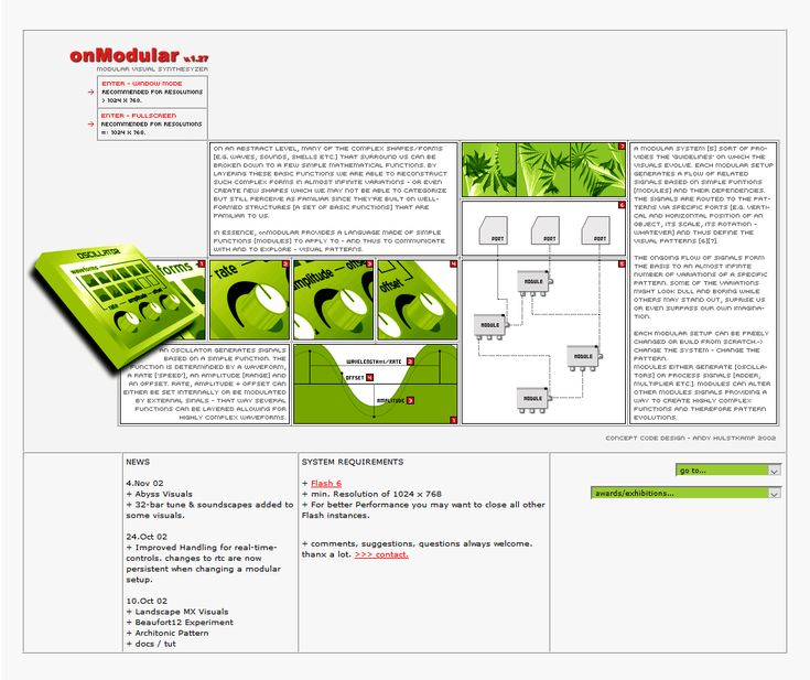 Travel with us through the history of web design and look at how onModular website looked in 2002.