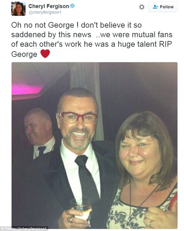 EastEnders star Cheryl Fergison has paid an emotional tribute to George Michael hours after her character came back from the dead to speak about him onscreen