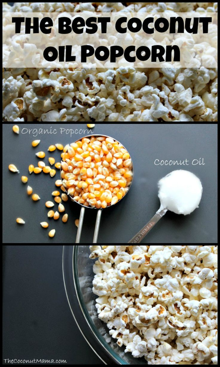 The BEST Coconut Oil Popcorn--This is how I make my popcorn! SO delicious