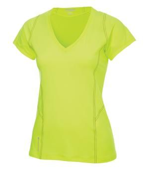 "OGIO® ENDURANCE NEXUS LADIES' V-NECK. #LOE330 - 9.3-oz, 88/12 polyester/spandex smart jersey with peaching. 6.8-oz, 92/8 polyester/spandex air vent mesh panels. Stay-fresh wicking technology. Tagless. Mitered V-Neck pattern. Contoured for a feminine fit Reflective ""O"" logo at back neck. Ladies' sizes: XS – 4XL. Comes in 4 colours. For details on how to order this item with your logo branded on it contact ww.fivetwentyfour.ca #promoitems #promoproducts"