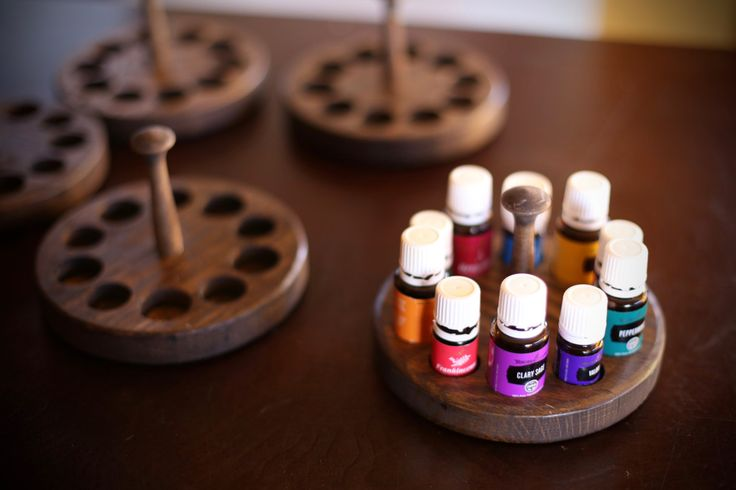 Essential Oil Holder/Display for (5) 15ml and (5) 5ml essential oil bottles (10 bottles total) by BeeBeeGeeArt on Etsy