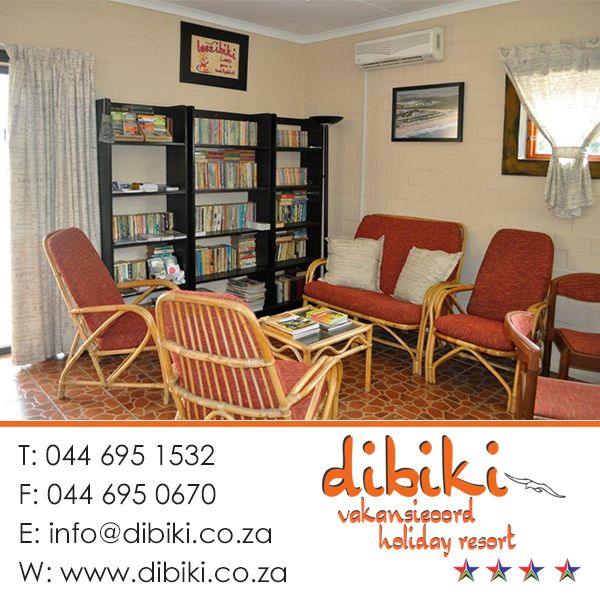 At Dibiki's Office you can loan a book to read any time , and we also have pamphlets and information of all the fun things to do in the area. Information about all the restaurants and we make reservations for guests of all activities and day trips.  Visit our website: http://bit.ly/1cXzrm6 #activities #books #mosselbay