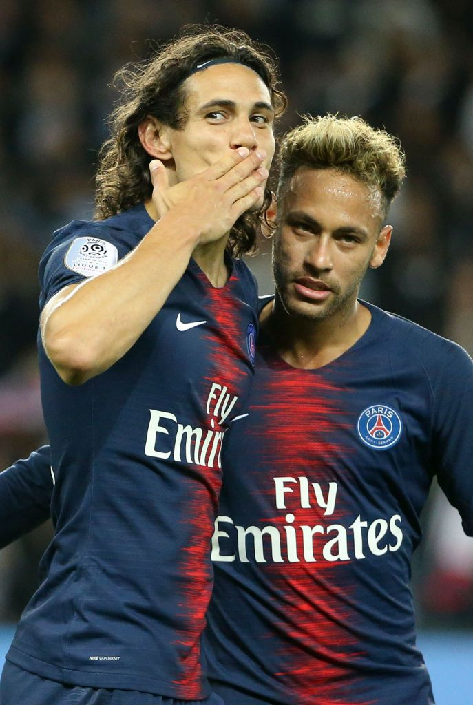 Edinson Cavani Of Psg Celebrates His Goal With Neymar Jr During The Neymar Neymar Jr Psg