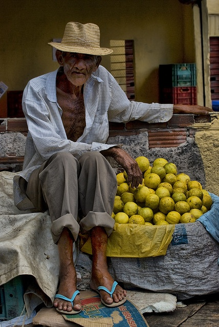 83 years selling limes in Salvador, Brazil.