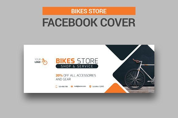 Bicycle Sales Facebook Cover Spanduk Seni Digital Seni