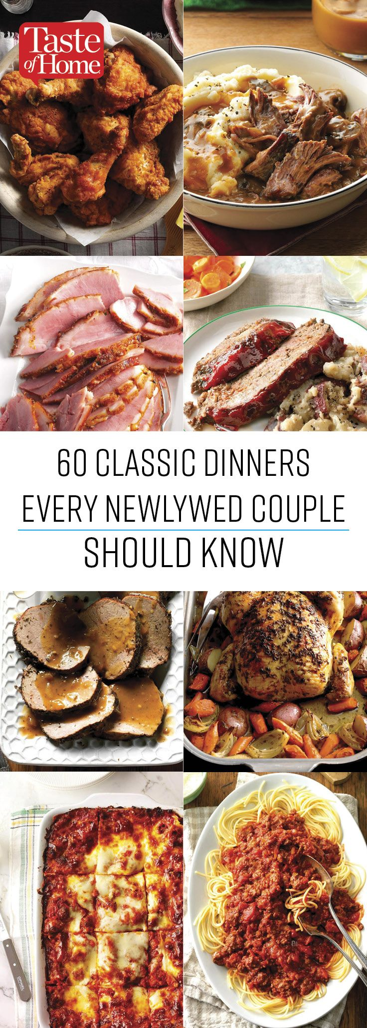 60 classic dinners every newlywed couple should know