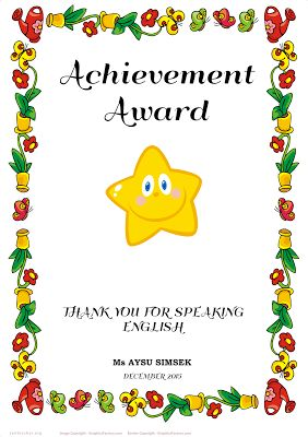 make your own awards certificates | template