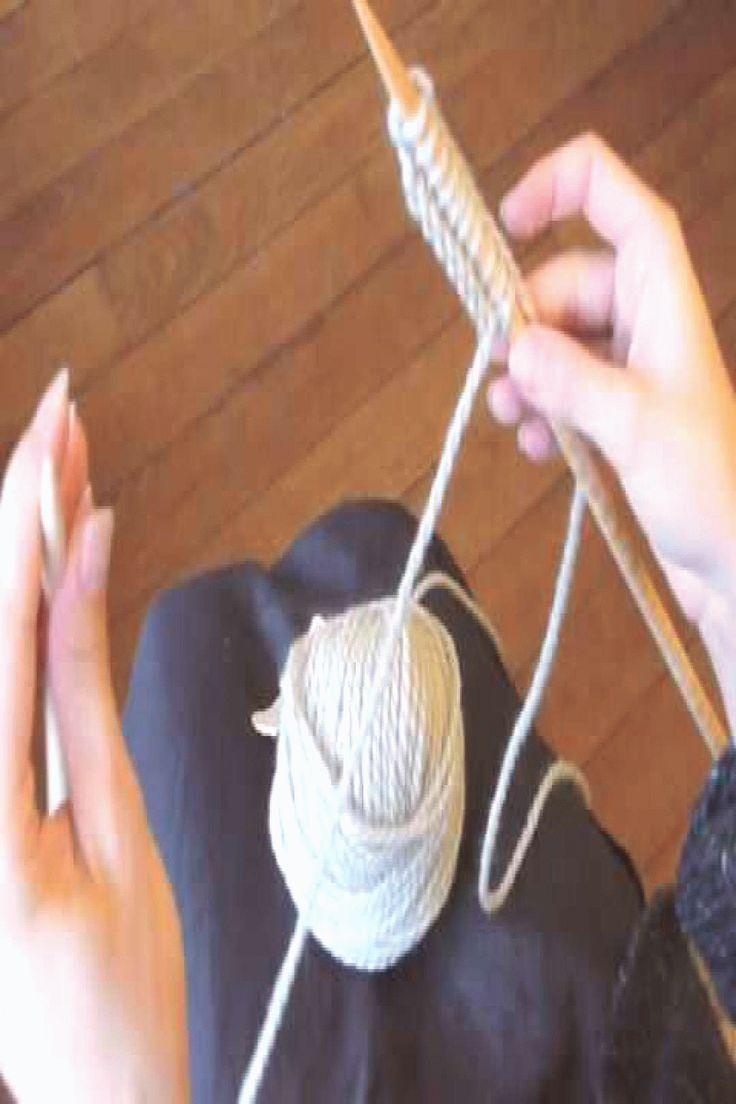 Comment apprendre à tricoter Un tuto tricot pour les débutantes in 2020 | Garter stitch, Baby ...