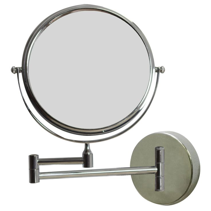 "American Imaginations AI-645 9-1/8""W Round Brass Wall Mount Magnifying Mirror in Chrome"