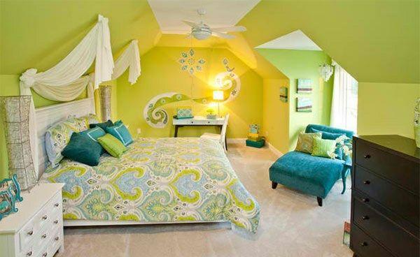 schlafzimmer farben ideen eine frische farbmischung aus blau und gr n einrichten und wohnen. Black Bedroom Furniture Sets. Home Design Ideas
