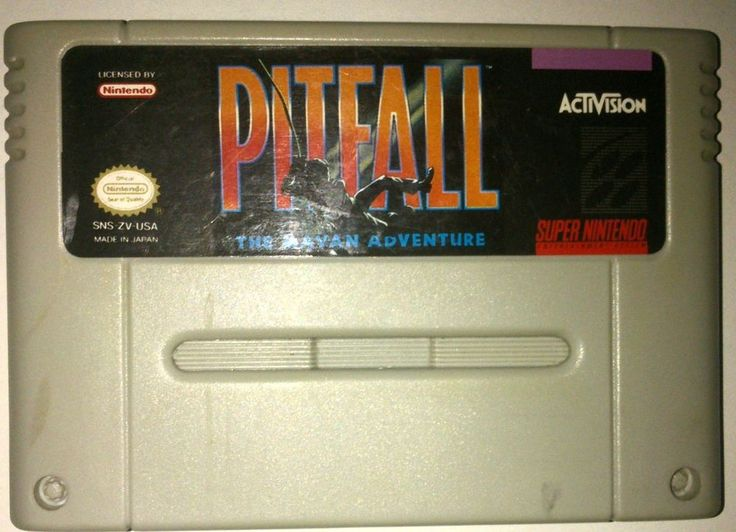 Rare Original SNES Pitfall: The Mayan Adventure game (NTSC 1994)