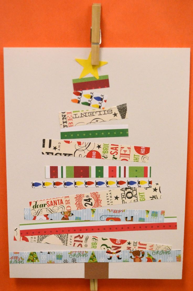 Art/Maths Activity for last week of term Christmas Cards children have to select paper strips in order of length and glue them down to make Christmas Trees.