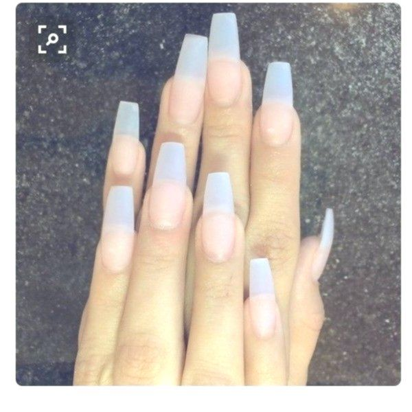 Clear Acrylic Nails Without Polish We Talked About This Newest Nail Trend Negative Space Nails W Clear Acrylic Nails Short Coffin Nails Designs Coffin Nails