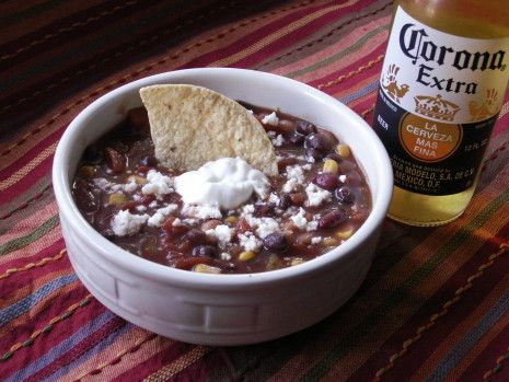 Paula Deens version of Taco Soup. As with most of the other things I have watched her make on the Food Network, this is easy to make and delicious! I ran to the market to buy all the cans of goodies to make this immediately.