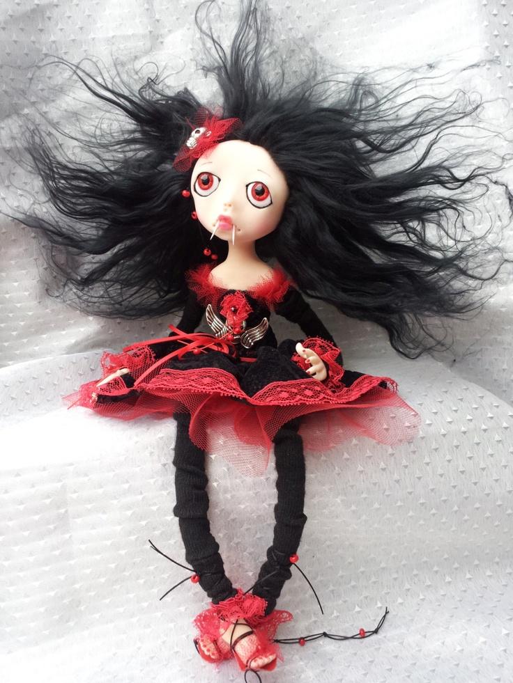 OOAK  Vampire  Art  Doll Lala by Litriada on Etsy, $190.00