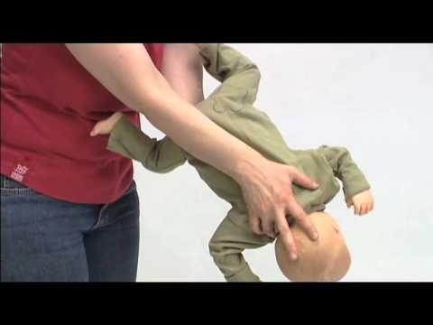Verslikking bij een baby