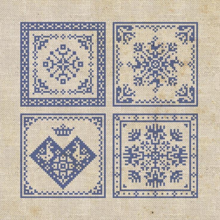 Four Pincushions - PDF Pattern. $5.00, via Etsy.  I was thinking they'd make nice little biscornus.