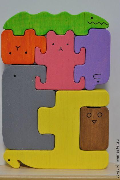 "Пазл ""Ноев ковчег"" 7 зверей. Handmade. $36"