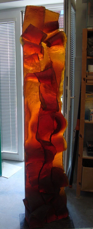 Zora palova nostalgia 2 2012 76 x 17 x 9 inches cast ground glass