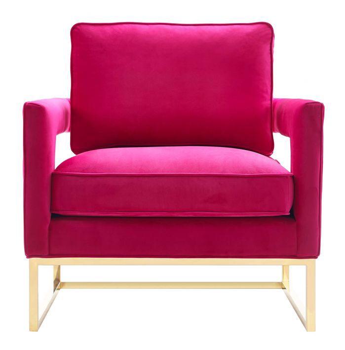 Avery Arm Chair Pink Velvet Chair Armchair Velvet Chair