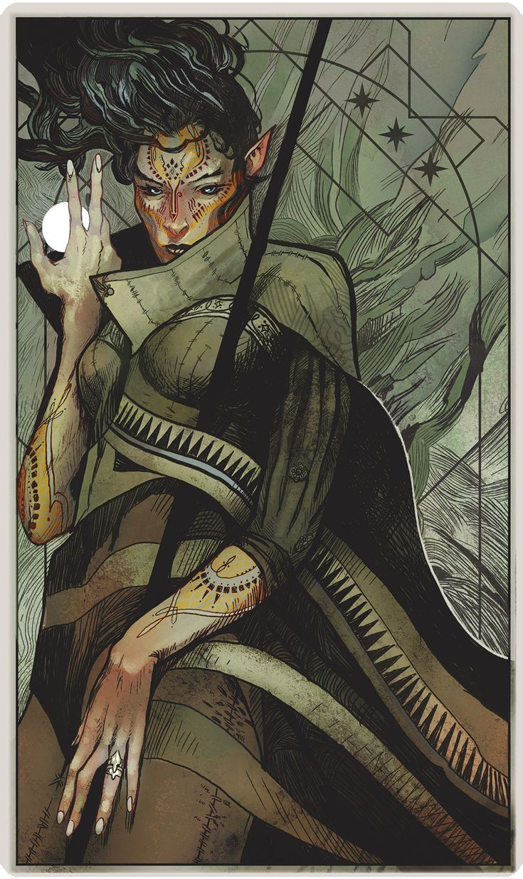 [Dragon Age Inquisition Tarot - Imgur] I love the Dragon Age Tarot designs; absolutely beautiful.
