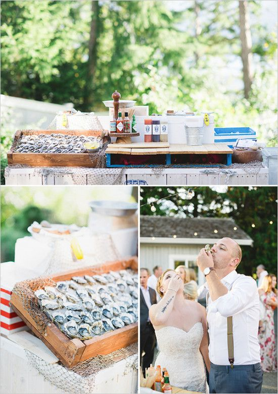 diy wedding oyster bar #weddingbar #oysterbar @weddingchicks