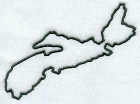 Nova-Scotia Province Outline Tattoo    -People think its kinda silly but i love it!