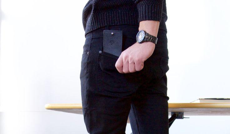 Van meeter wallet Martin Dust  Leather wallet cuire slots for cards minimalist unique black noir porte-feuille Montréal: