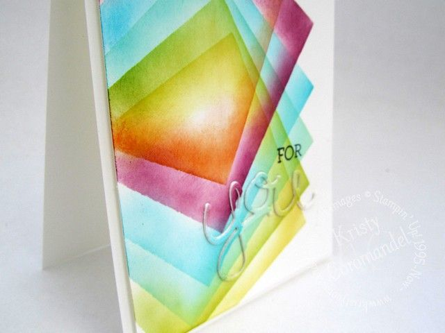 Today I will share with you a fun way to create colourful, geometric patterns for one layer cards using Square Framlits from Stampin' Up!