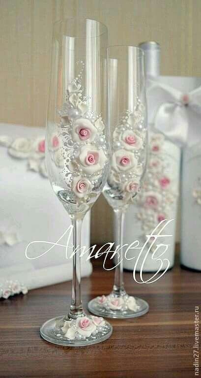 Copas rosa blanca