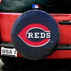 These great tire covers are made with a heavy gauge vinyl that has an elastic tie down for an easy fit. It is a universal fit tire cover, that fits tires with up to 16 inch rims (tire diameter up to 29 inches and 10 inch tread width). It's also water resistant, and wipes clean with a damp cloth. - A quality product from the licenced US sports goods, US sports wear and US sports merchanise range at Distinct Sports Goods