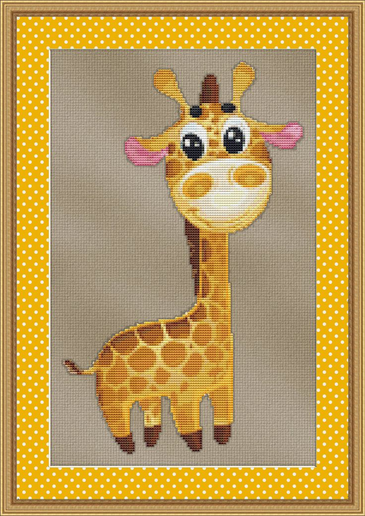 Counted Cross Stitch Pattern Baby Giraffe by StitchXCrossStitch, $2.95