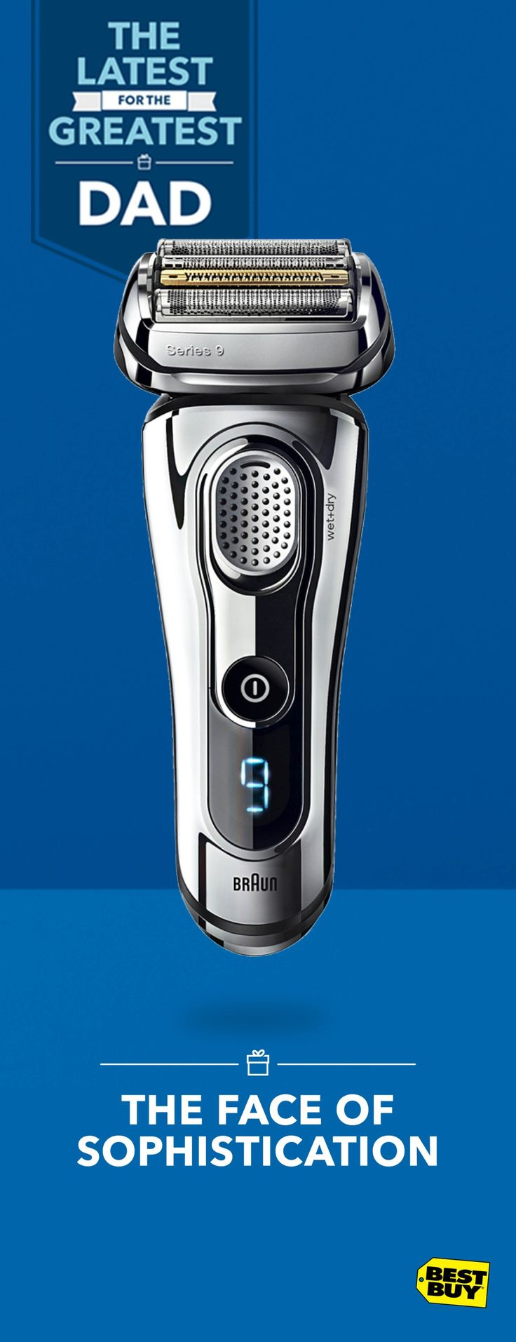 This exquisitely designed Braun Series 9 electric razor makes short work of even the most difficult hairs, whether it's at the sink, in the shower or on the drive to the office. If Dad likes sleek cheeks, he can lather up with shaving cream for an ultra-smooth finish. Find elegant Father's Day gifts like this and more at Best Buy.