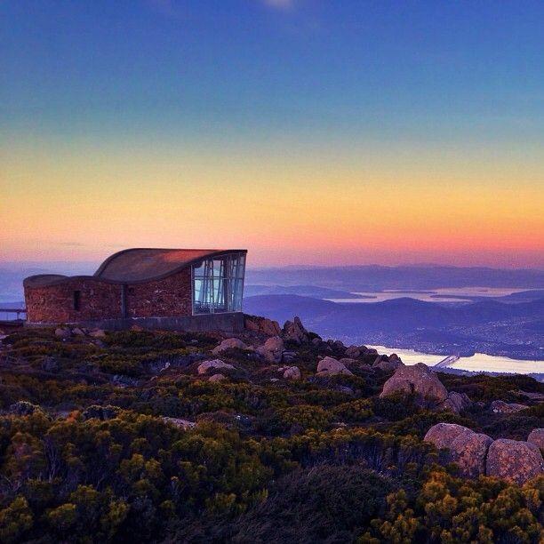 At #MountWellington Observatory, Tasmania with @walruswhisperer during the colourful sunset. | Hipgram