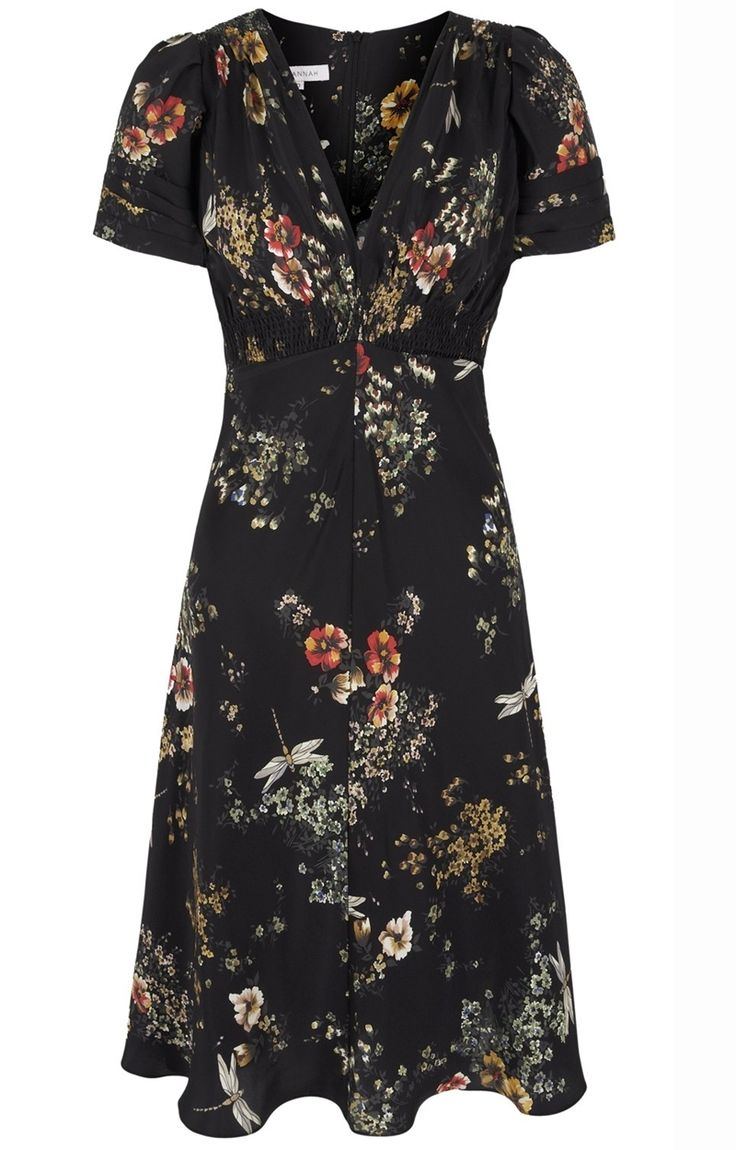 30s Dragonfly Print Tea Dress by Suzannah