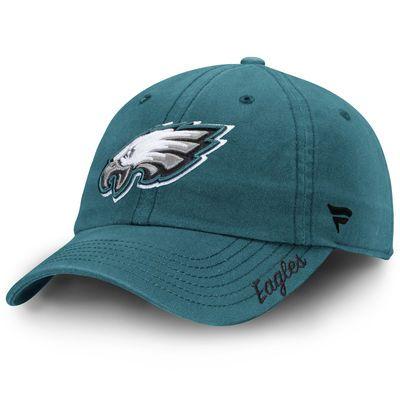 Philadelphia Eagles NFL Pro Line Women's Fundamental Adjustable Hat - Midnight Green