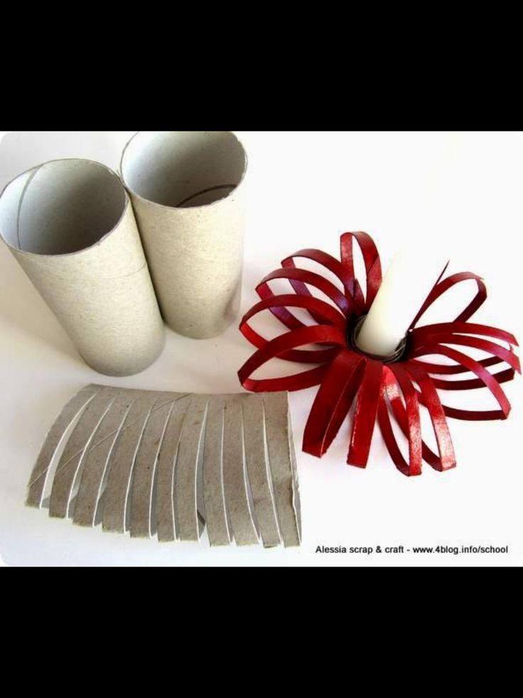 Papel rolo de papel higi nico adorno casti al recycle Toilet paper roll centerpieces