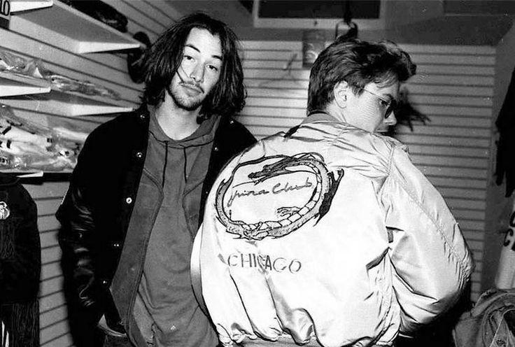 Keanu Reeves and River Phoenix in LA 1991.