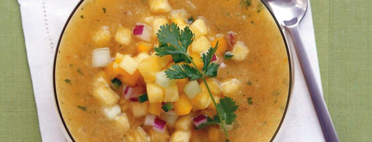 Pineapple-Cucumber Gazpacho ... supports joint integrity after spinal cord injury — and it's delicious!
