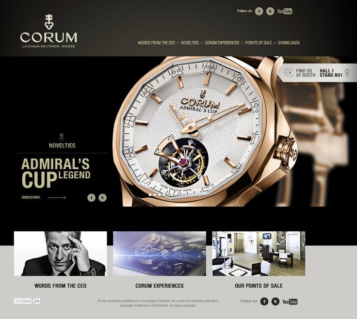 Nouveautés Corum à BaselWorld sur basel.corum.ch