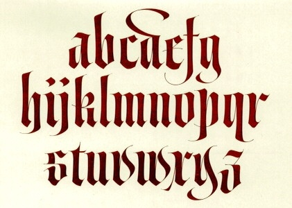 caligraphy ~ I'm a little out of practice...